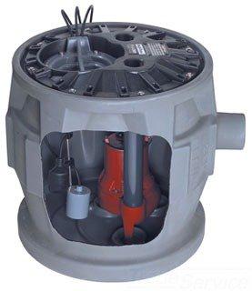 "Liberty Quicktree P382LE41A2 4"" X 2"" No Hub Power Rating 4/10Hp 115V 12Amp 41Gallon Polyethylene Simplex Sewage System W/Alarm"