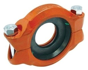 """Anvil Gruvlok 7010_PTD_E_2-1/2X2 2-1/2"""" X 2"""", Groovedxgrooved, 500Psi, Lead-Free, 40S, Orange Painted, Ductile Iron/Malleable Iron, Reducing, Coupling W/Type-E Epdm Gasket"""