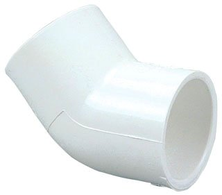 "Fig L842900 3/4"" X Female Socketxfemale Socket Pvc 45D Elbow"