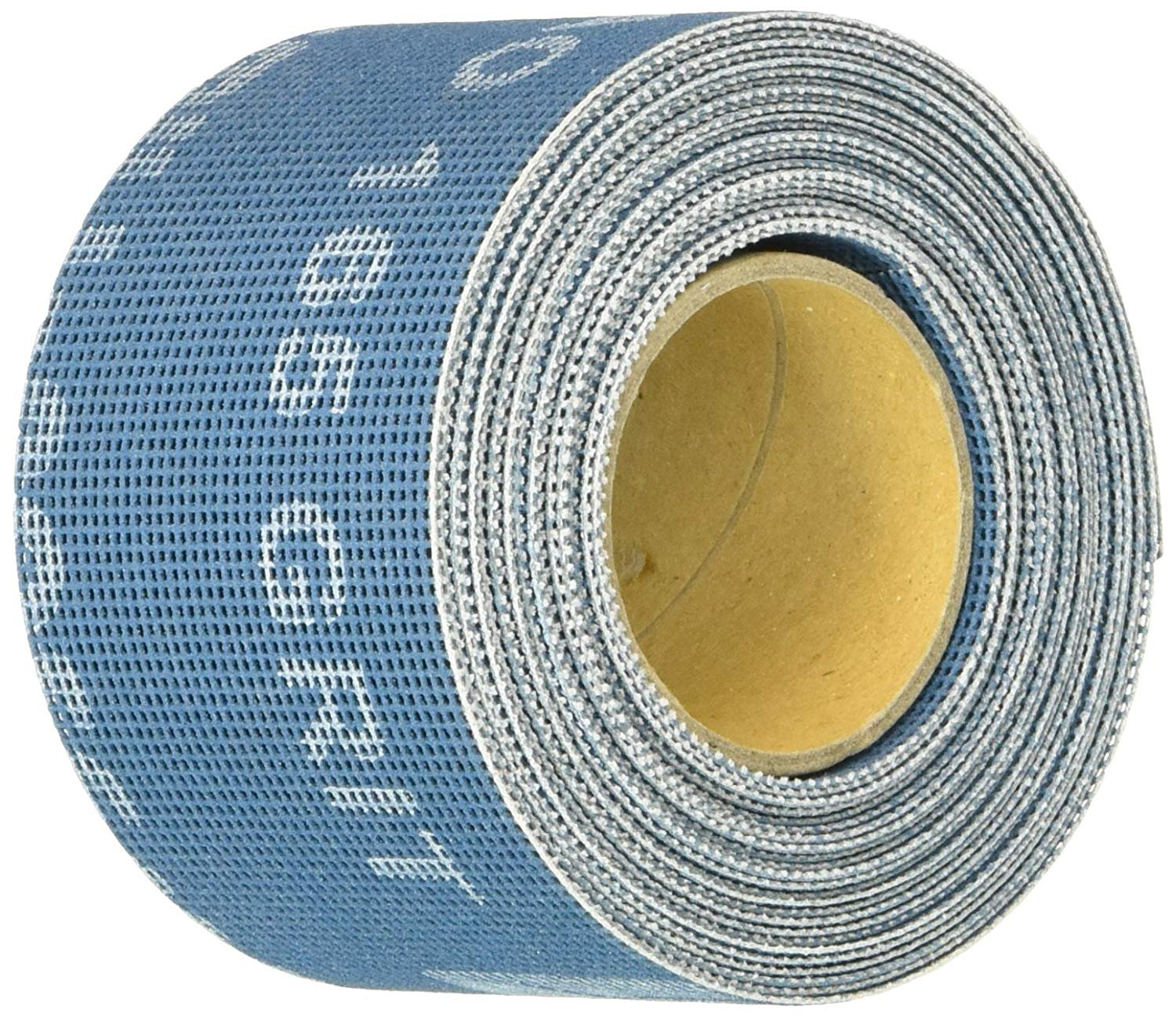 """Mill-Rose Clean-Fit 70152 2"""" X 5Yard 165 Grit Aluminum Oxide Bright Blue Open Mesh Abrasive Roll"""