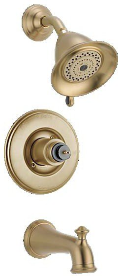 Delta T14455-CZLHP Faucet 14 Series Less Handle Victorian Monitor Tub And Shower Trim, Champagne Bronze