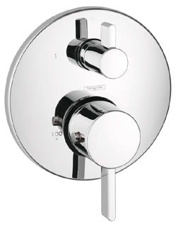 Hansgrohe 04231000 Ecostat Thermostatic Valve Trim with Integrated Diverter and Volume Controls - Less Valve in Chrome