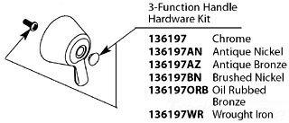 Moen 136197 Chrome Faucet Plug Button Kit