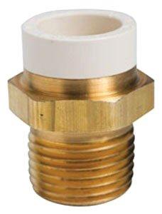 "Sioux Chief Metalhead 646-CG3 3/4"" X 3/4"" Cpvc Socketxmpt 500Psi Lead-Free Brass Straight Adapter"