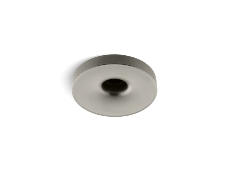"Kohler K-923-BN Laminar Wall- or Ceiling-Mount Bath Filler with 0.95"" orifice in Vibrant Brushed Nickel"