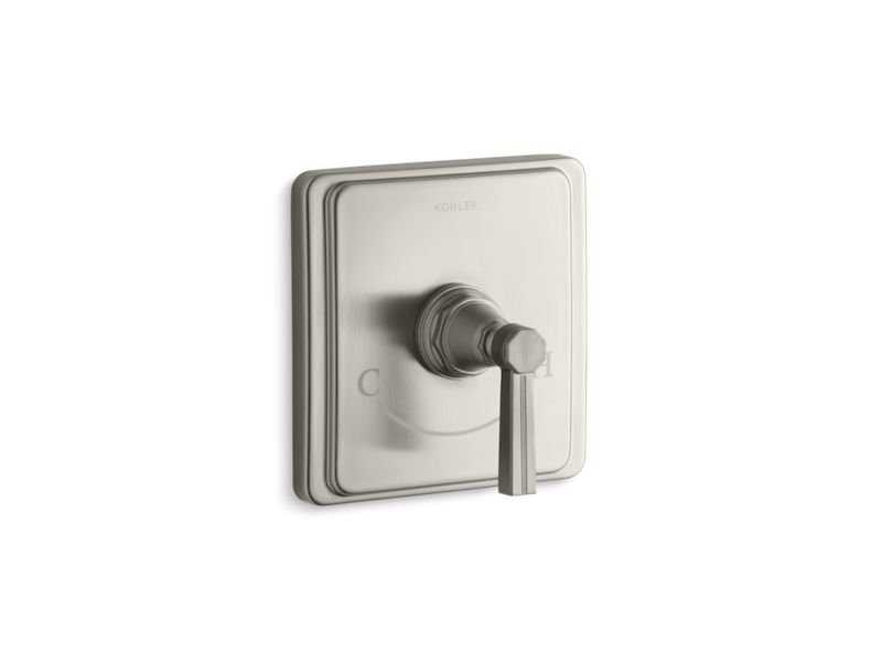 Kohler K-T13173-4B-BN Pinstripe Valve Trim with Lever Handle for Thermostatic Valve, Requires Valve in Vibrant Brushed Nickel