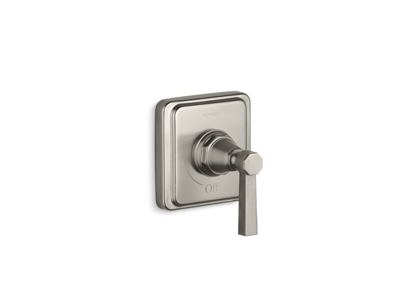 Kohler K-T13174-4A-BN Pinstripe Valve Trim with Pure Design Lever Handle for Volume Control Valve, Requires Valve in Vibrant Brushed Nickel
