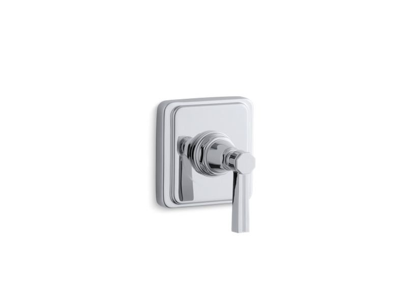 Kohler K-T13174-4B-CP Pinstripe Valve Trim with Lever Handle for Volume Control Valve, Requires Valve in Polished Chrome