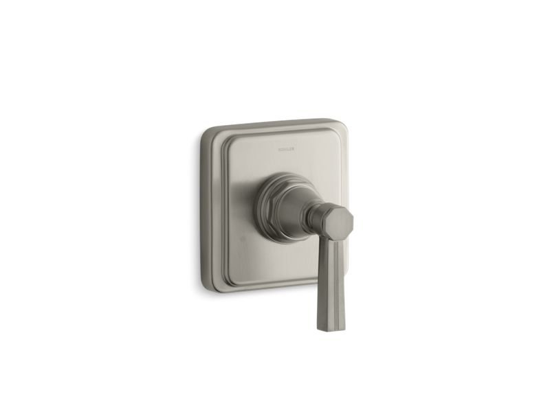 Kohler K-T13175-4B-BN Pinstripe Valve Trim with Lever Handle for Transfer Valve, Requires Valve in Vibrant Brushed Nickel