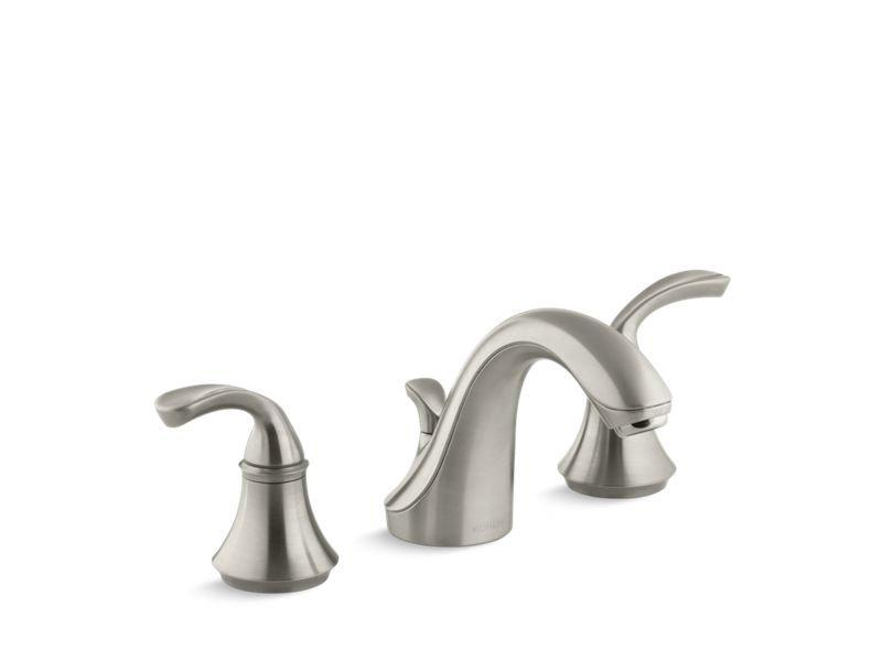 Kohler K-10272-4-BN 10272-4 Forte Widespread Bathroom Sink Faucet with Sculpted Lever Handles - Vibrant Brushed Nickel in Vibrant Brushed Nickel