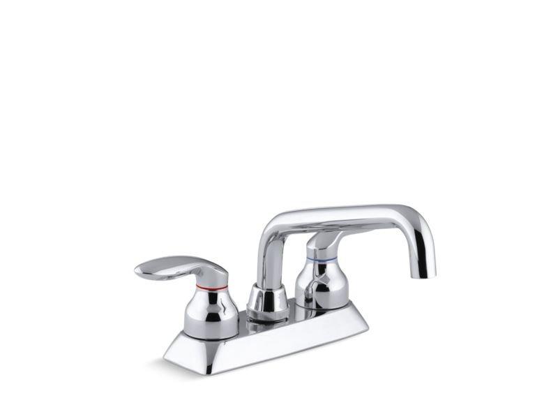 Kohler K-15270-4-CP Coralais Utility Sink Faucet with Lever Handles