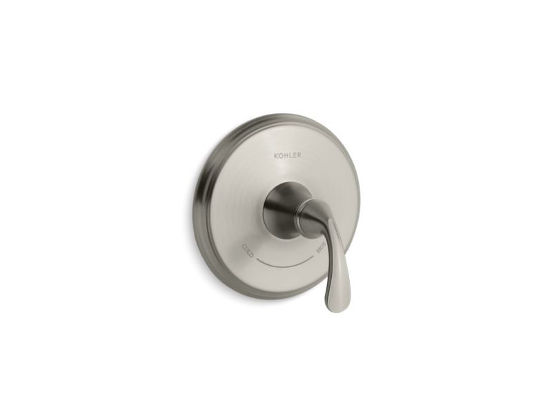 Kohler K-T10359-4-BN Forte Sculpted Valve Trim for Thermostatic Valve, Requires Valve in Vibrant Brushed Nickel