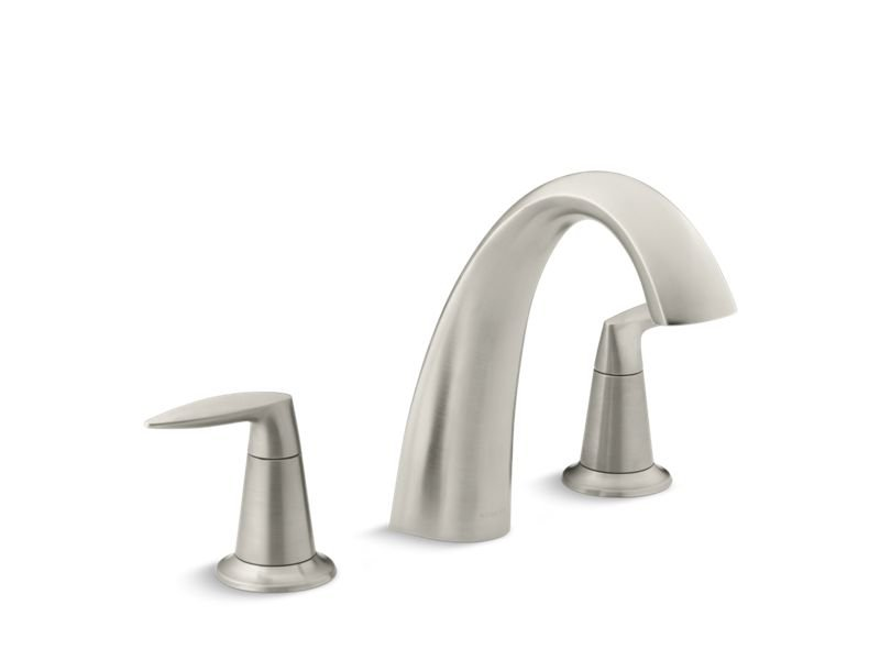 Kohler K-T45115-4-BN Alteo Bath Faucet Trim, Valve Not Included in Vibrant Brushed Nickel