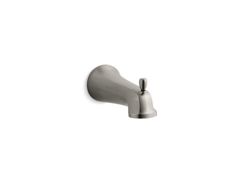 Kohler K-10589-BN Bancroft Wall Mount Diverter Bath Spout with Slip-Fit Connection in Vibrant Brushed Nickel