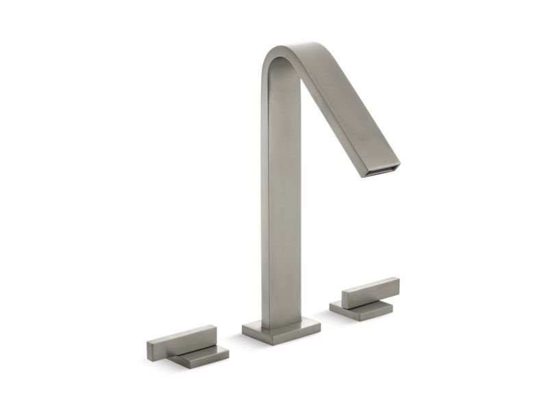 Kohler K-15285-4-BN Loure Deck-Mount Bath Faucet in Vibrant Brushed Nickel