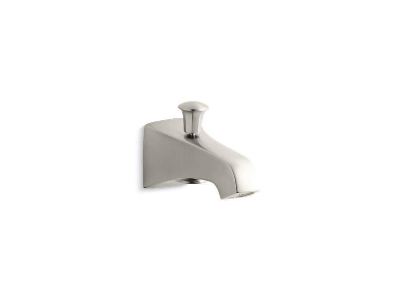 "Kohler K-496-BN Memoirs Stately Wall-Mount 6"" Diverter Bath Spout in Vibrant Brushed Nickel"