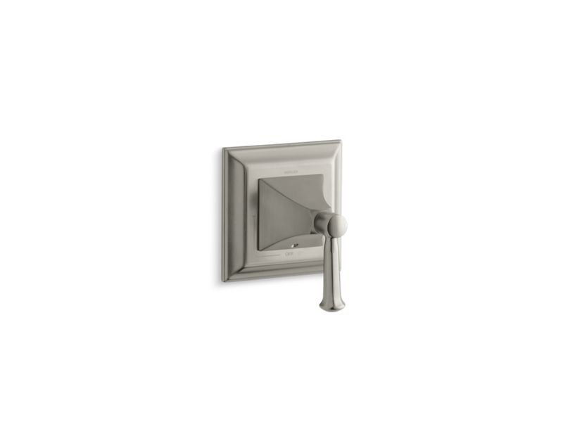 Kohler K-T10423-4S-BN Memoirs Stately Valve Trim with Lever Handle for Volume Control Valve, Requires Valve in Vibrant Brushed Nickel