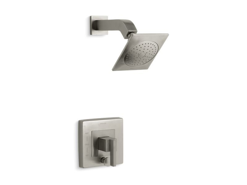 Kohler K-T14665-4-BN Loure Rite-temp Shower Trim with Diverter in Vibrant Brushed Nickel