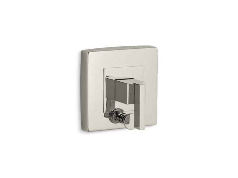 Kohler K-T14668-4-SN Loure Single Handle Rite Temp Pressure Balanced Valve Trim Only with Diverter and Metal Lever Handle From the Loure Collection in Vibrant Polished Nickel