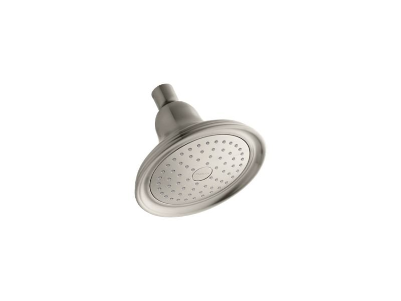 Kohler K-10391-AK-BN Devonshire 2.5 GPM Single Function Showerhead with Katalyst Air-Induction Technology in Vibrant Brushed Nickel