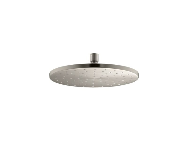 """Kohler K-13689-BN 10"""" Contemporary Round 2.5 Gpm Rainhead with Katalyst Air-induction Technology in Vibrant Brushed Nickel"""