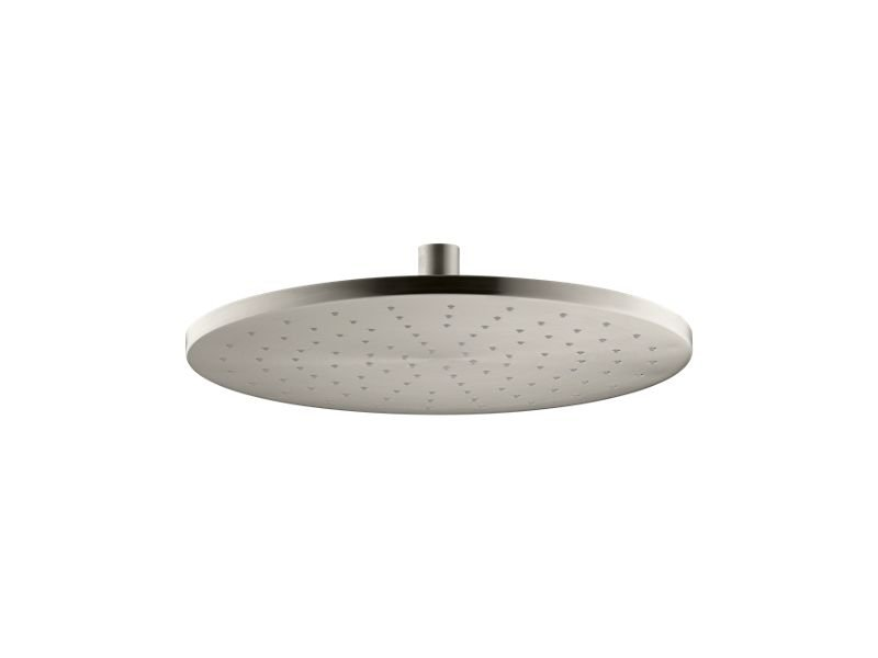 """Kohler K-13690-BN 12"""" Contemporary Round 2.5 Gpm Rainhead with Katalyst Air-induction Technology in Vibrant Brushed Nickel"""