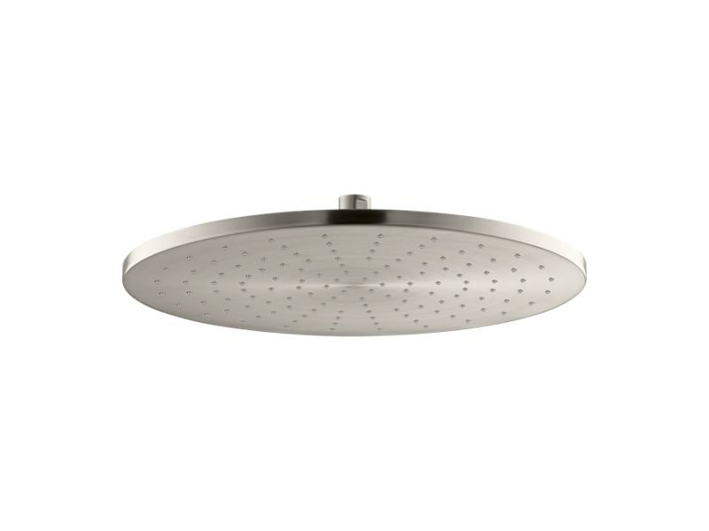 """Kohler K-13691-BN Contemporary Round 14"""" Rainhead with Katalyst Air-induction Spray, 2.5 Gpm in Vibrant Brushed Nickel"""