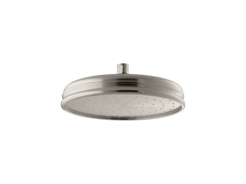 "Kohler K-13693-BN 10"" Traditional Round 2.5 Gpm Rainhead with Katalyst Air-induction Technology in Vibrant Brushed Nickel"