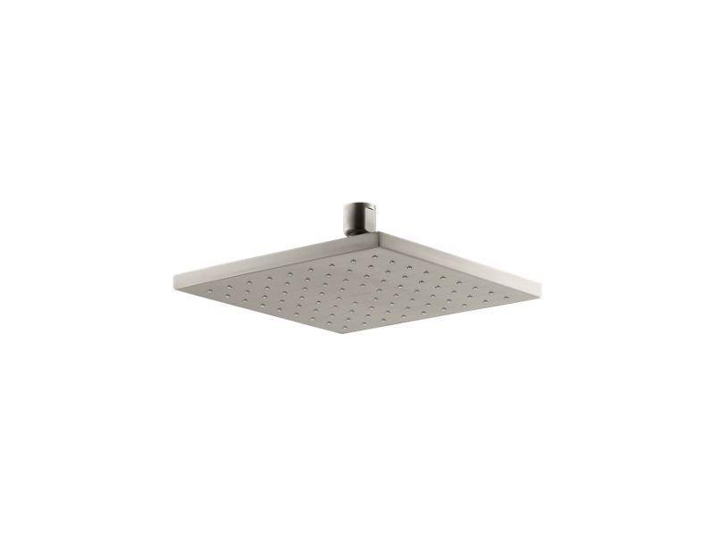 """Kohler K-13695-BN 8"""" Contemporary Square 2.5 Gpm Rainhead with Katalyst Air-induction Technology in Vibrant Brushed Nickel"""
