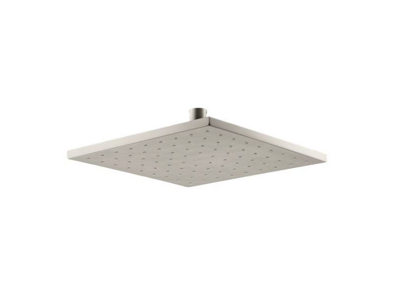 """Kohler K-13696-BN 10"""" Contemporary Square 2.5 Gpm Rainhead with Katalyst Air-induction Technology in Vibrant Brushed Nickel"""