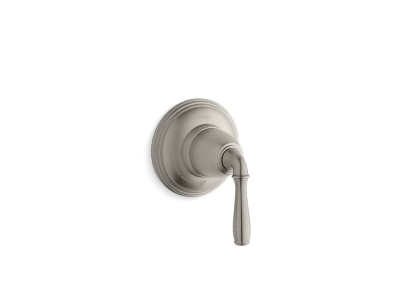 Kohler K-T10358-4-BN Devonshire Valve Trim for Volume Control Valve with Lever Handle, Requires Valve in Vibrant Brushed Nickel