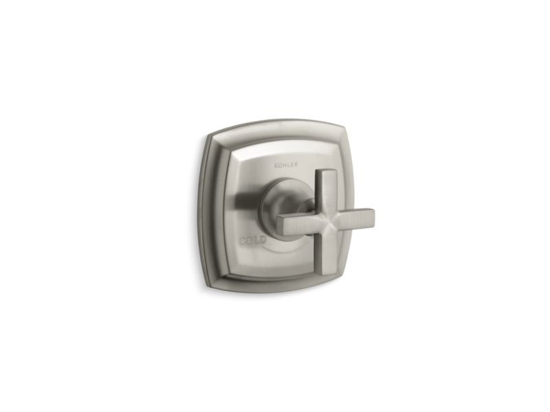 Kohler K-T16239-3-BN Margaux Valve Trim with Cross Handle for Thermostatic Valve, Requires Valve in Vibrant Brushed Nickel