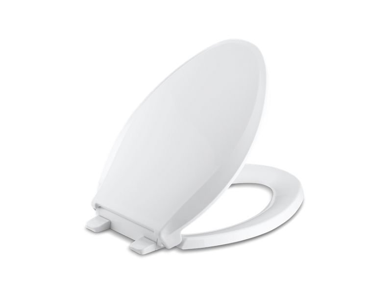 Kohler K-4636-0 Cachet Quiet-Close with Grip-Tight Elongated Toilet Seat in White