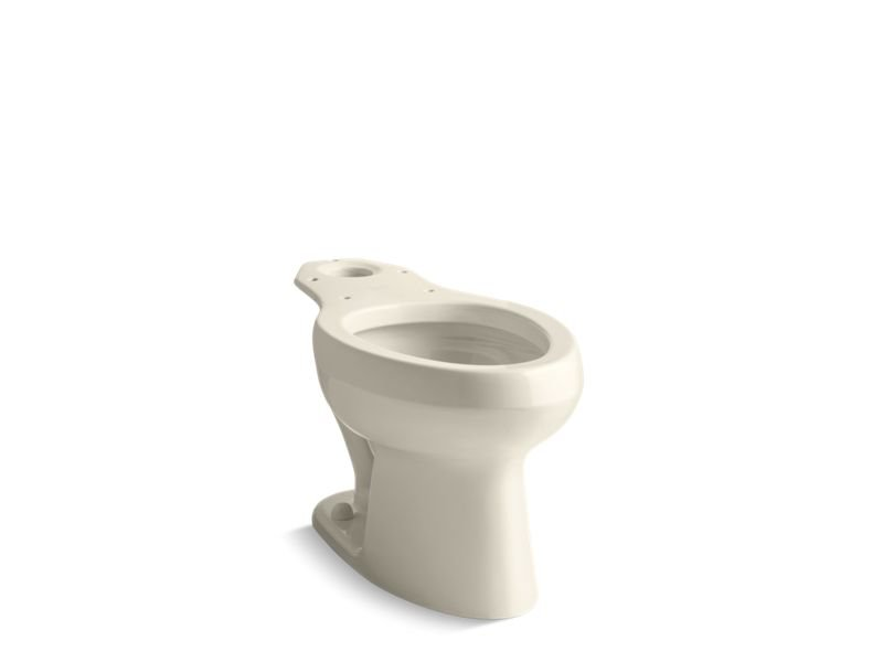 Kohler K-4303-47 Wellworth Toilet Bowl with Pressure Lite Flushing Technology, Less Seat in Almond