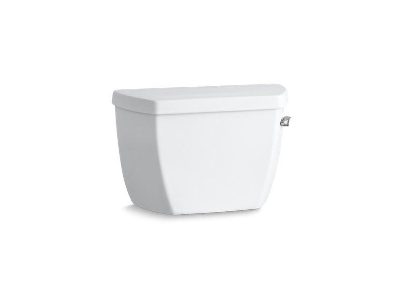 Kohler K-4645-RA-0 Highline Classic 1.6 GPF Toilet Tank with Pressure Lite Flushing Technology and Right-Hand Trip Lever in White