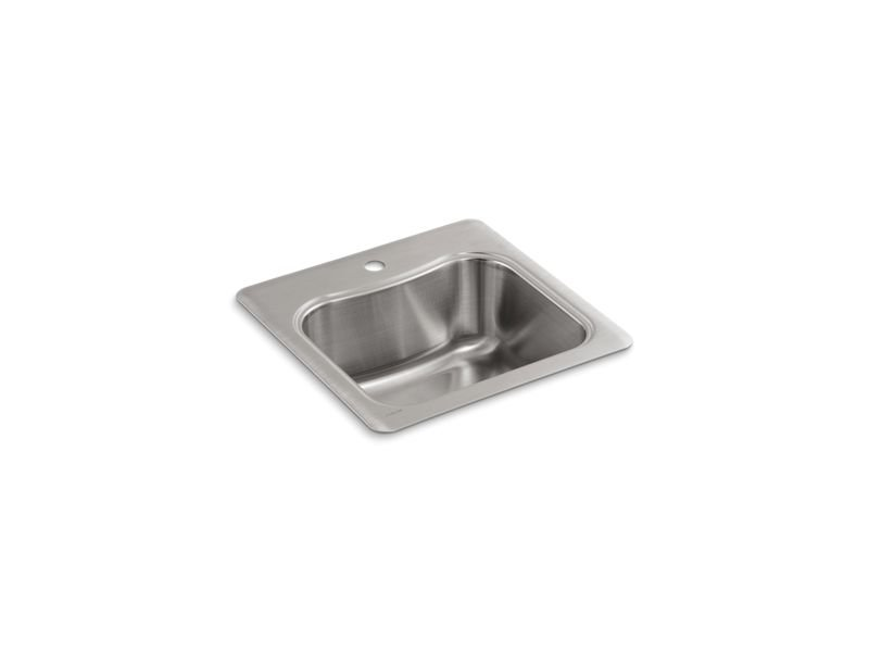 Kohler K-3363-1-NA Staccato Top-Mount Single Bowl Bar Sink with Single Faucet Hole