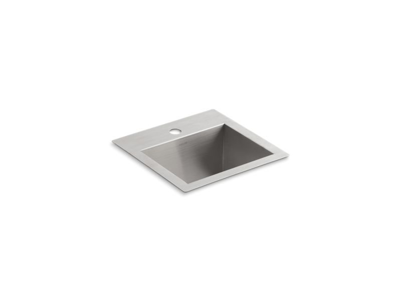 Kohler K-3840-1-NA Vault Top/Under-Mount Bar Sink with Single Faucet Hole