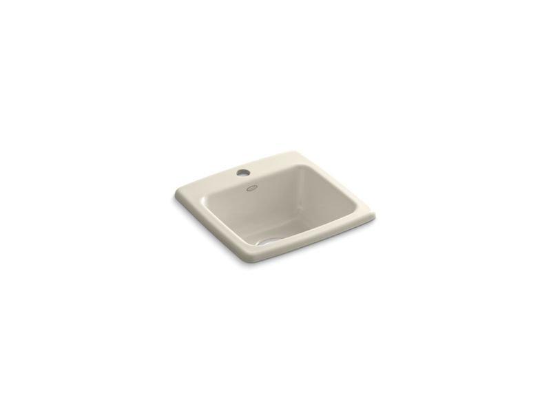 Kohler K-6015-1-47 Gimlet Top-Mount Bar Sink with Single Faucet Hole in Almond
