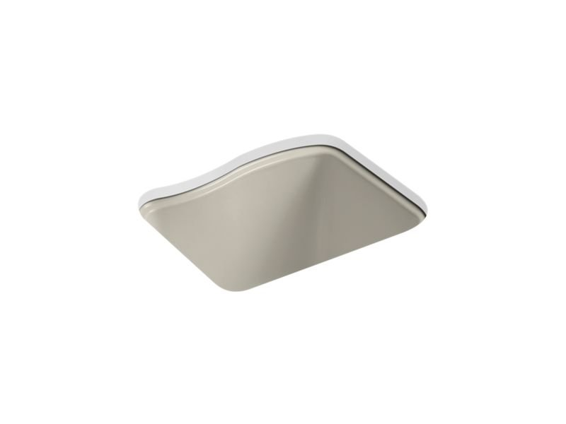 Kohler K-6657-4U-G9 River Falls Under-Mount Utility Sink with 4 Faucet Holes - 3-Holes On Deck On The Left and Right-Hand Accessory Hole in Sandbar
