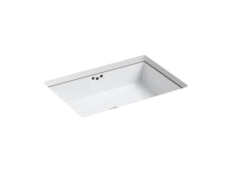 "Kohler K-2297-0 Kathryn 23-7/8"" Under-Mount Bathroom Sink in White"