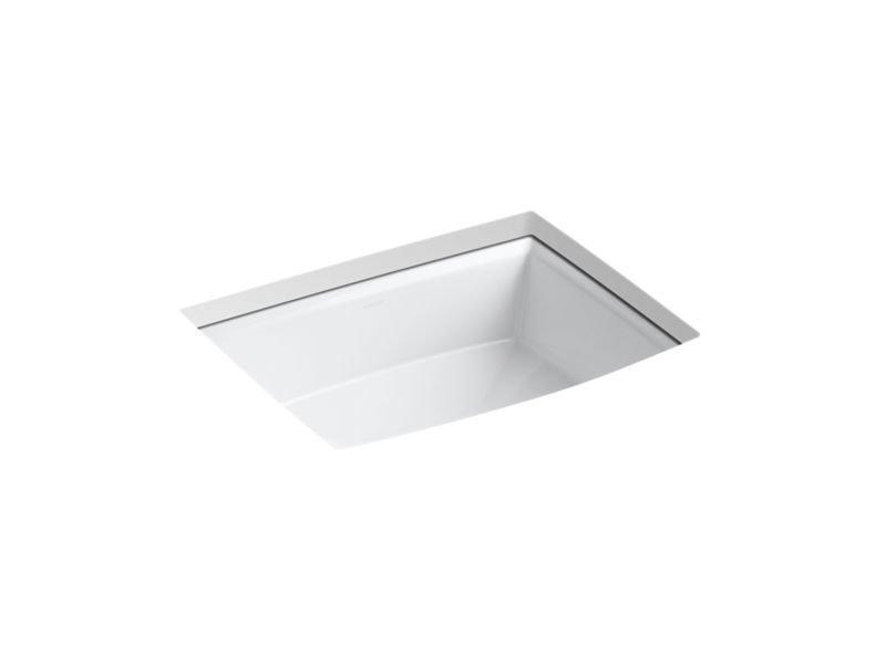 Kohler K-2355-0 Archer Under-Mount Bathroom Sink in White