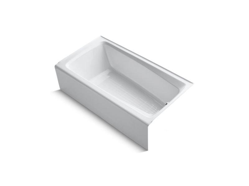 Kohler K-506-0 Mendota Alcove Bath with Integral Apron and Right-Hand Drain in White