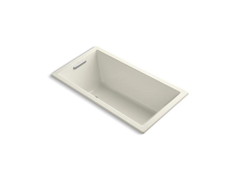 "Kohler K-1168-VB-96 Underscore Rectangle 60"" x 32"" Drop-In Vibracoustic Bath in Biscuit"