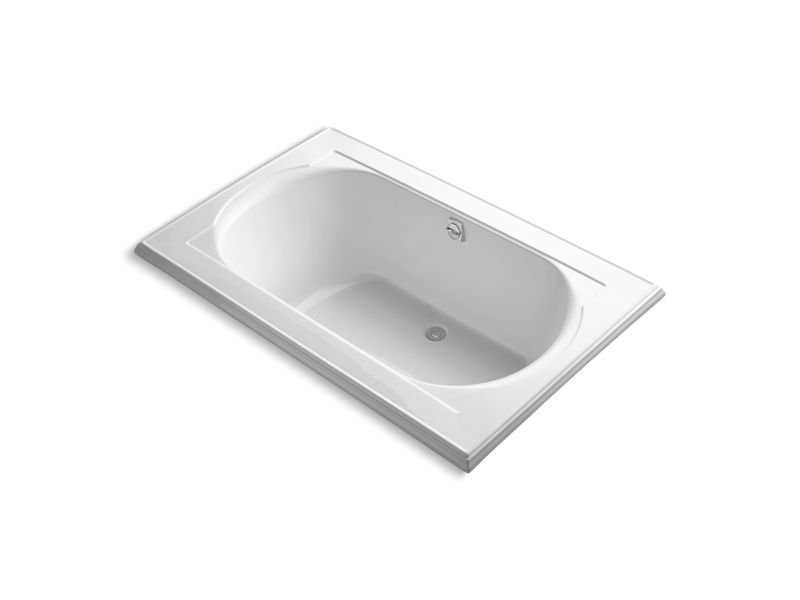 "Kohler K-1170-VB-0 Memoirs 66"" x 42"" Drop-In Vibracoustic Bath with Reversible Drain in White"