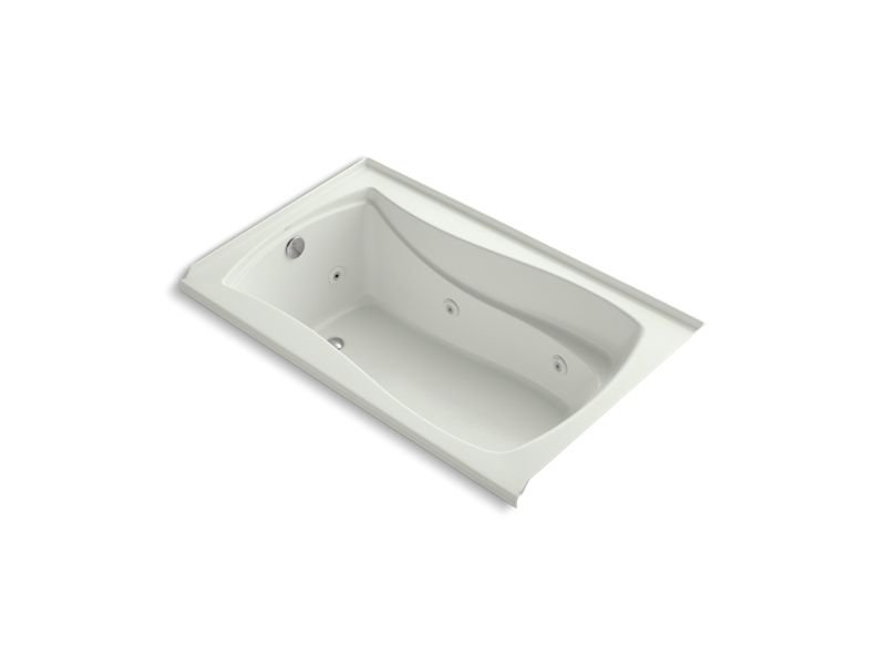 "Kohler K-1239-LW-NY Mariposa 60"" x 36"" Alcove Whirlpool with Bask Heated Surface, Integral Flange and Left-Hand Drain in Dune"