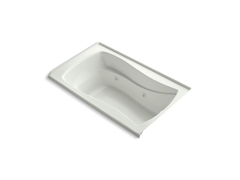 Kohler K-1239-RW-NY Mariposa 60 x 36 Alcove Whirlpool with Bask Heated Surface, Integral Flange and Right-hand Drain in Dune