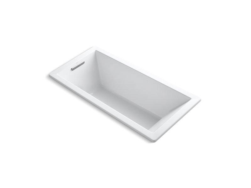 "Kohler K-1822-VB-0 Underscore Rectangle 66"" x 32"" Drop-In Vibracoustic Bath in White"