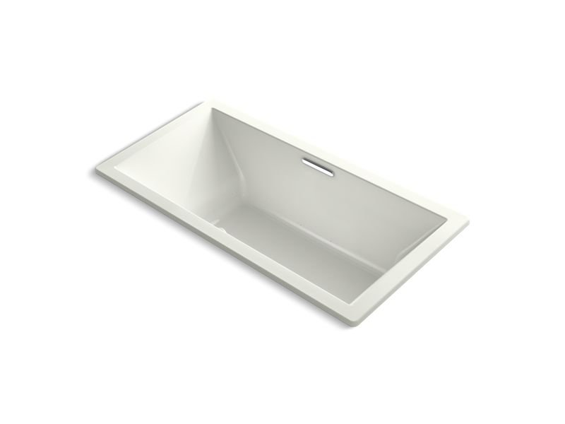 """Kohler K-1835-G-NY Underscore Rectangle 72"""" x 36"""" Drop-In Bubblemassage Air Bath with Center Drain in Dune"""