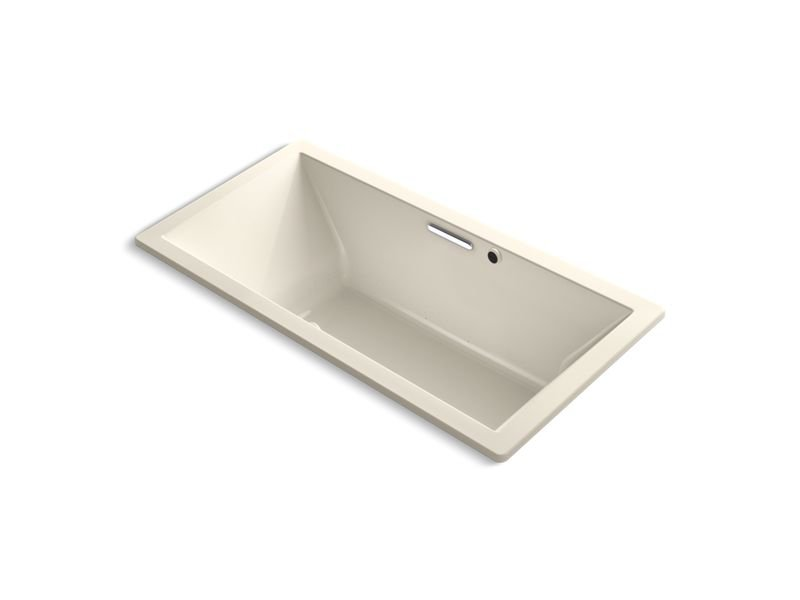 Kohler K-1835-GW-47 Underscore Rectangle Bubblemassage Air Bath 72 x 36 Drop-in Bath with Bask Heated Surface and Center Drain in Almond