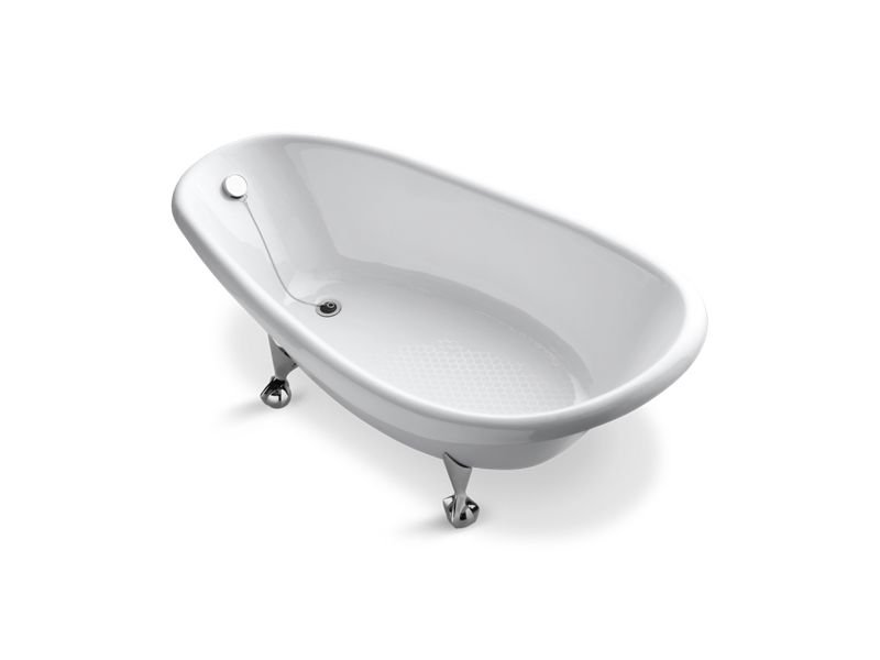 "Kohler K-100-0 Birthday Bath 72"" Freestanding Clawfoot Bath in White"